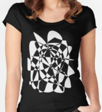 Gay Pride - Black and White Women's Fitted Scoop T-Shirt