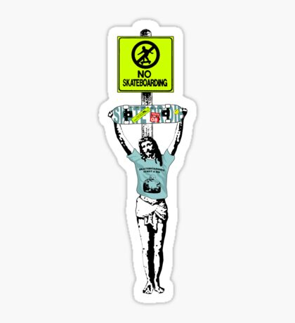 Jesus...what is going on round here? (World Youths at Bay) Sticker