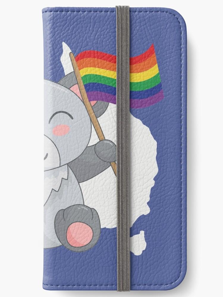 Gay pride leather wallet