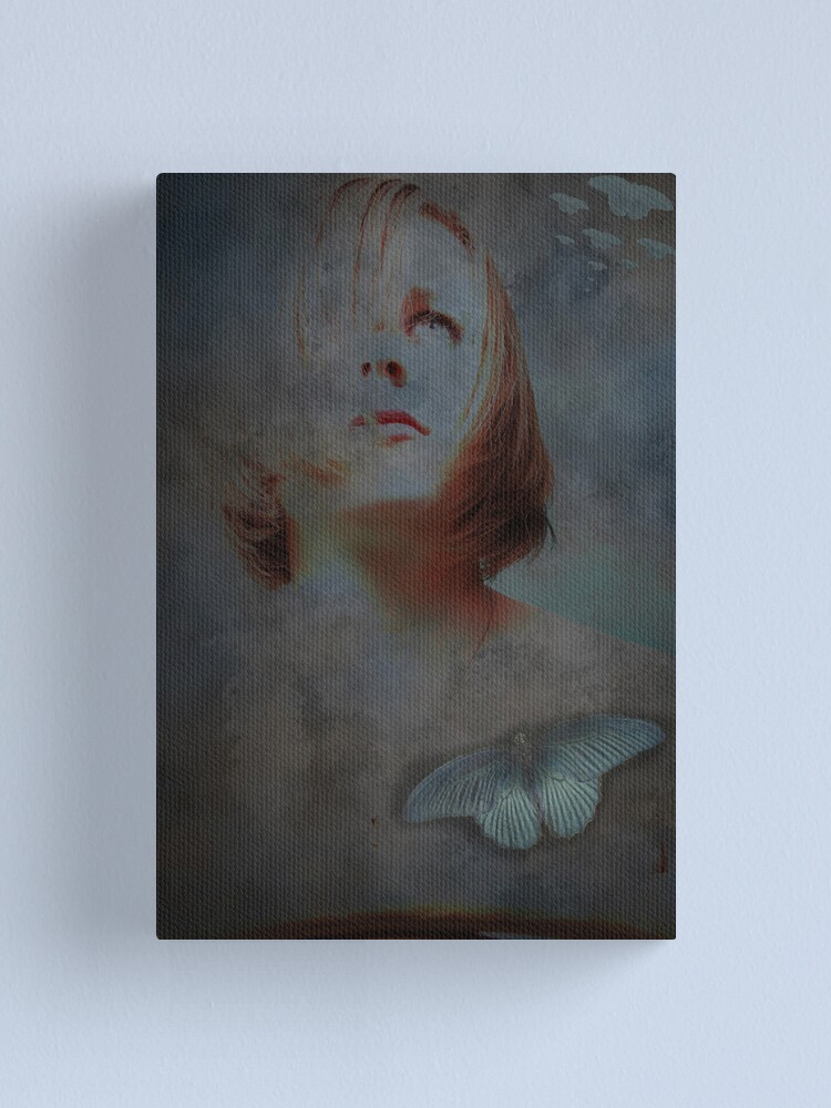 Alternate view of Butterfly blue Canvas Print