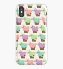 Whimsical Sweet Pastel Stacked Cupcakes with Butterflies iPhone Case