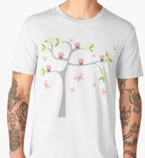 Whimsical Pink Cupcakes Tree II Men's Premium T-Shirt