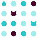 Kitty Dot - Aqua by Anzadesu