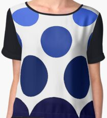 Bubbles in Blue Women's Chiffon Top
