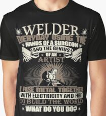 Welding Soft Screen Printed Summer graphic Welder gift Tshirt Graphic T-Shirt