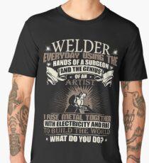 Welding Soft Screen Printed Summer graphic Welder gift Tshirt Men's Premium T-Shirt