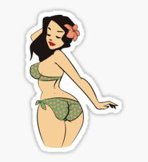 Beach Girl Sticker
