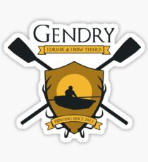 GoT Gendry - Rowing Since 2013 (Light Colored Tees) Sticker