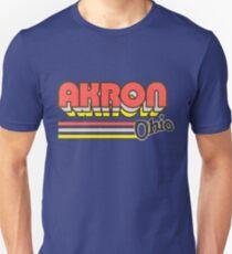Akron, OH | City Stripes Unisex T-Shirt