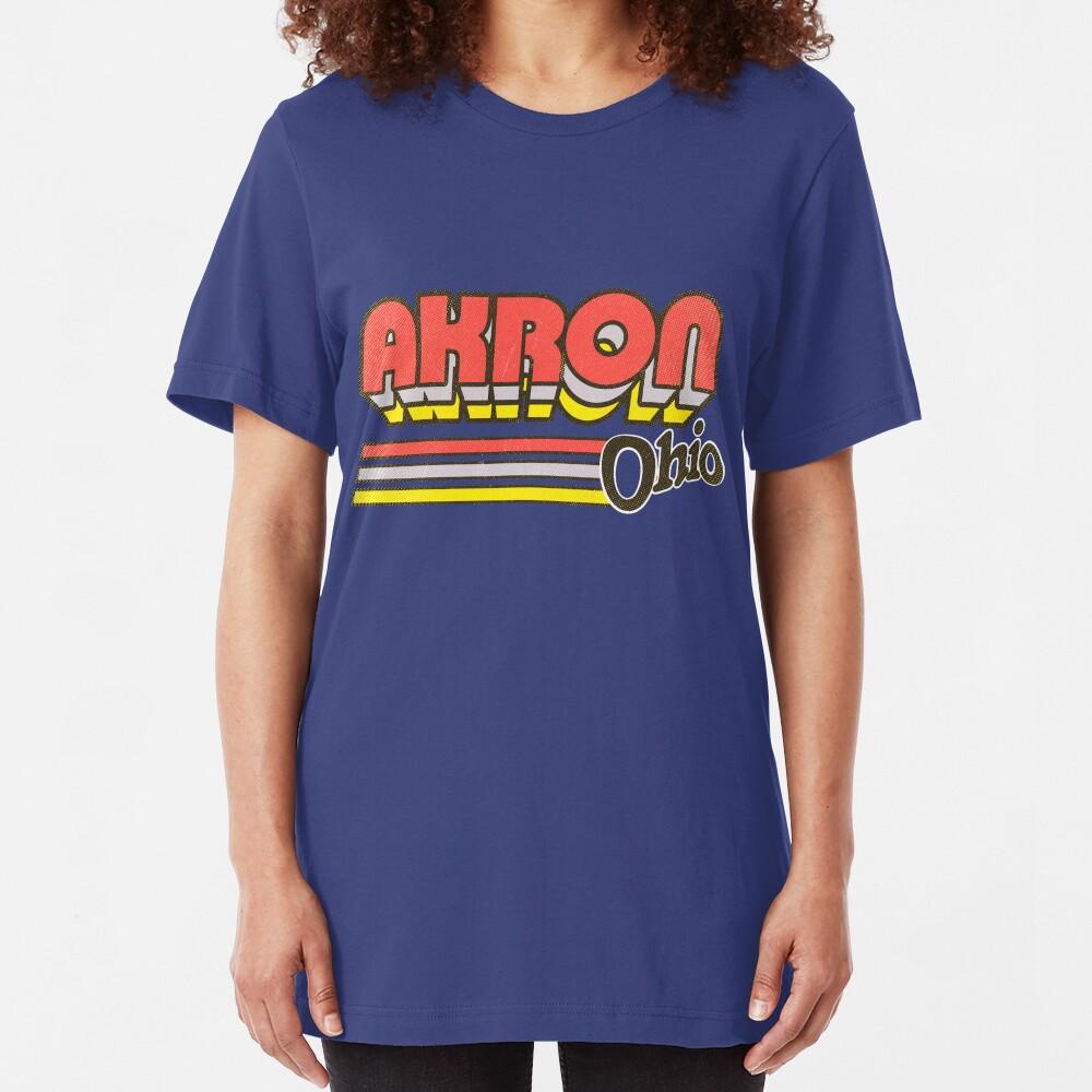 Akron, OH | City Stripes Slim Fit T-Shirt