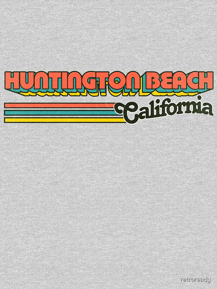 Huntington Beach, CA | City Stripes by retroready