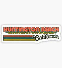 Huntington Beach, CA | City Stripes Sticker