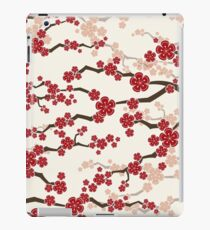 Red Oriental Cherry Blossoms | Zen Japanese Sakura Flowers iPad Case/Skin