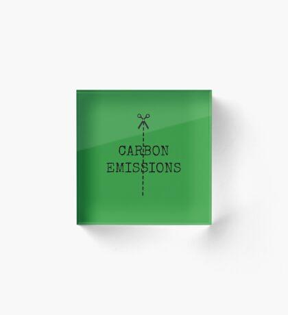 cut carbon emissions Acrylic Block