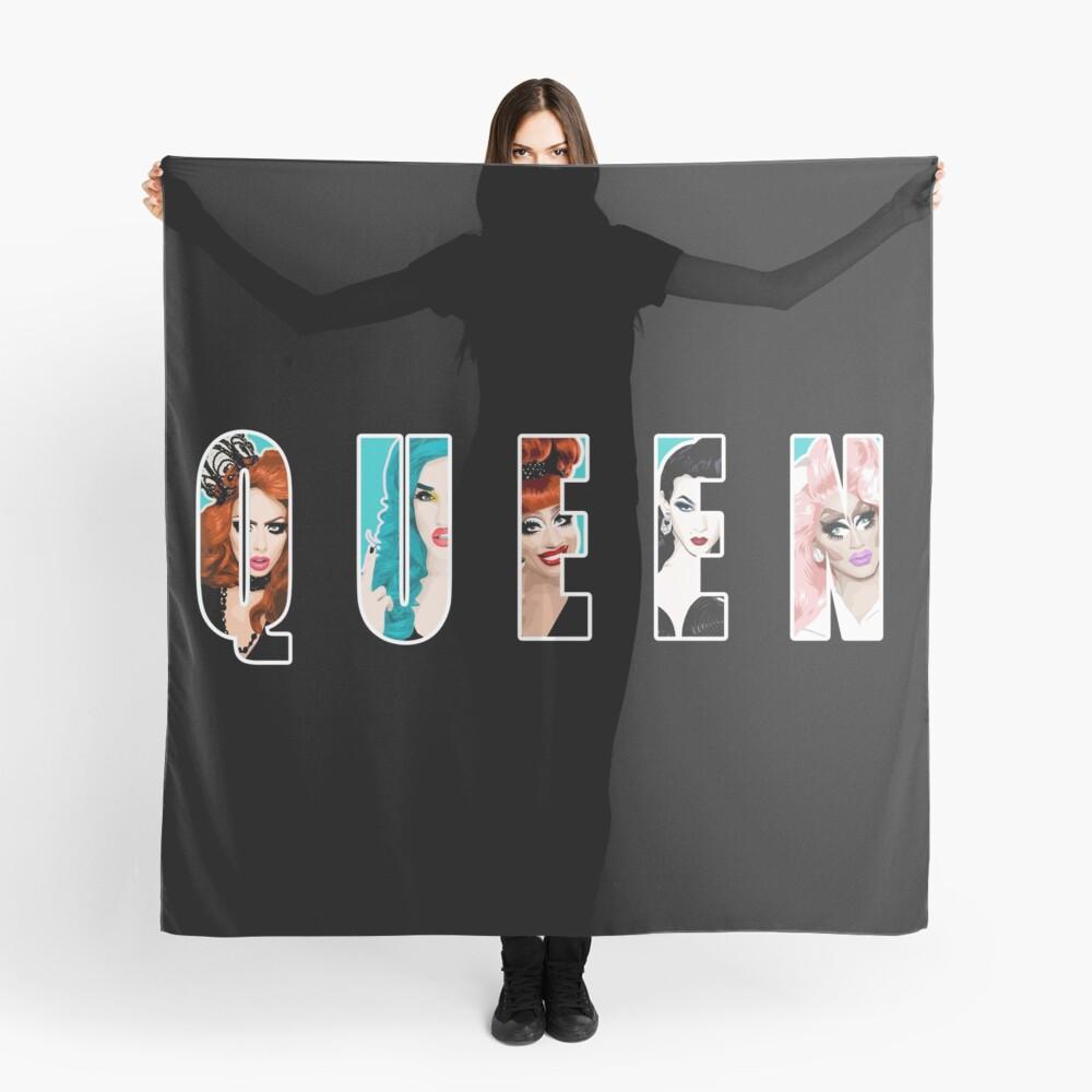 RuPauls Drag Race Queens, ft. Bianca Del Rio, Adé Delano, Alyssa Edwards, Violet Chachki und Trixie Mattel Tuch