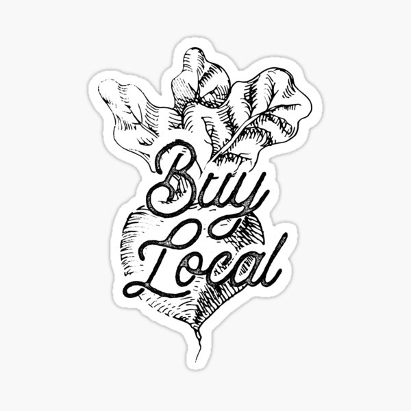 Buy Local - BeetsFarm Buy Local Organic Sticker