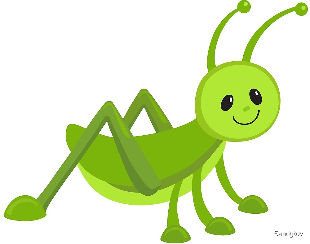 "Aninimal Book: ""Cute cartoon grasshopper"" by Sandytov 