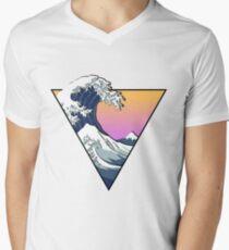 Great Wave Aesthetic Men's V-Neck T-Shirt