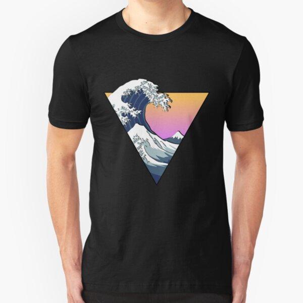 Große Wellenästhetik Slim Fit T-Shirt