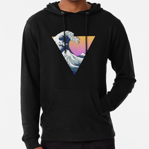 Great Wave Aesthetic Lightweight Hoodie