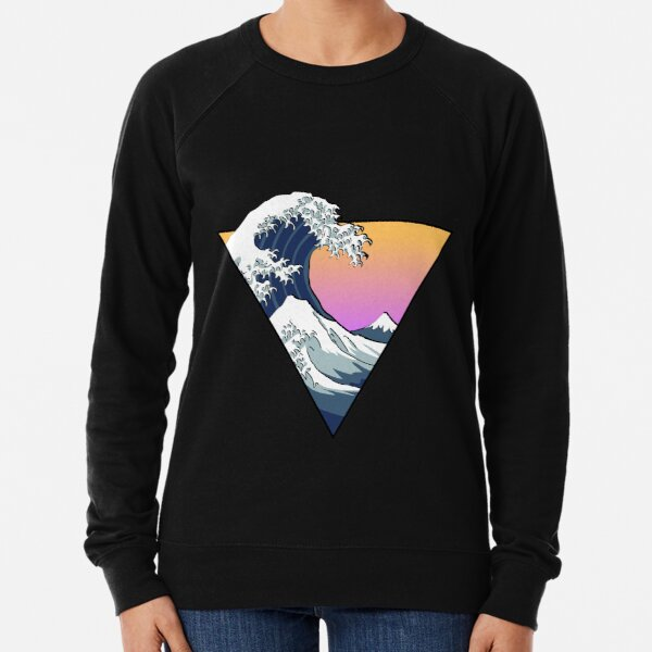 Great Wave Aesthetic Lightweight Sweatshirt