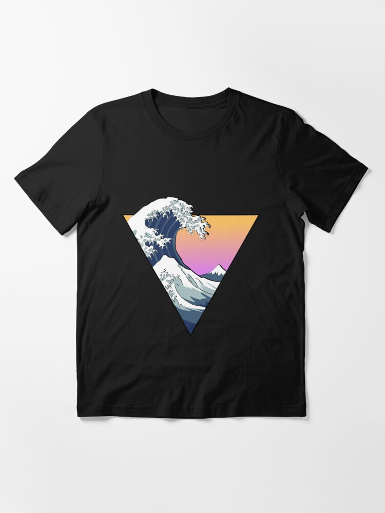 Alternate view of Great Wave Aesthetic Essential T-Shirt