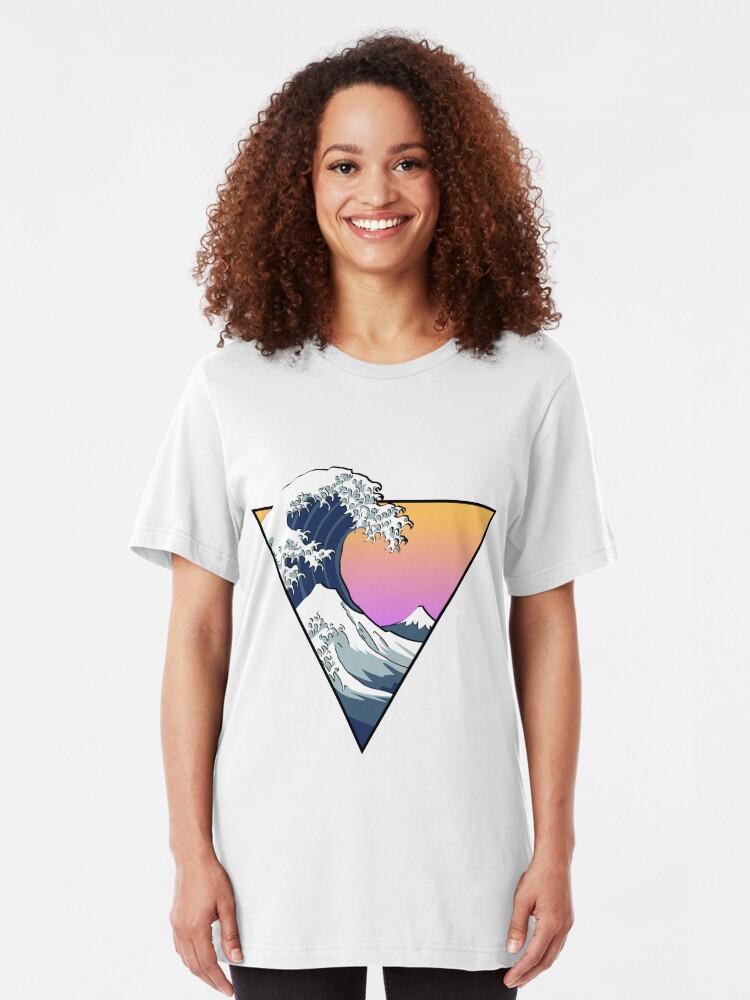 Vista alternativa de Camiseta ajustada Great Wave Esthetic