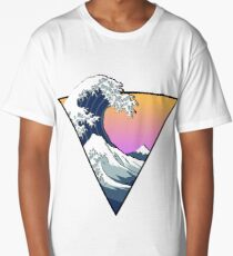 Great Wave Aesthetic Long T-Shirt