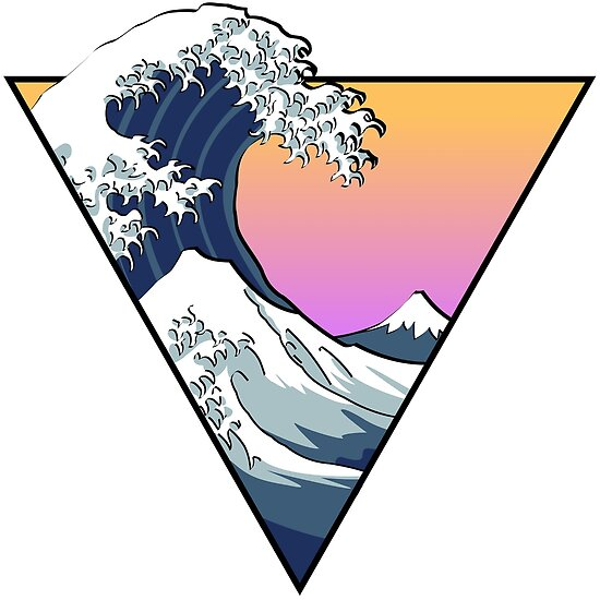 Quot Great Wave Aesthetic Quot Poster By Zayter Redbubble