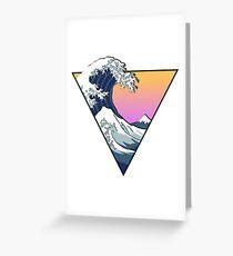 Tarjeta de felicitación Great Wave Esthetic