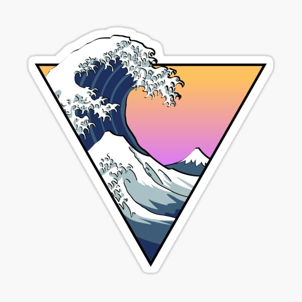 Great Wave Aesthetic Sticker
