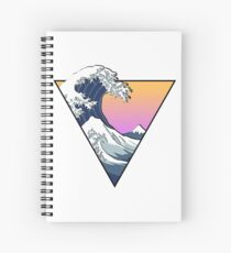 Great Wave Aesthetic Spiral Notebook