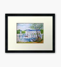Chateau Chenonceau watercolor painting Framed Print