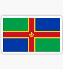 Flag of Lincolnshire, England Sticker