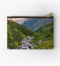 rapid stream in mountains at sunrise Studio Pouch