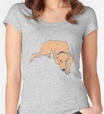 Orange lurcher dog Women's Fitted Scoop T-Shirt