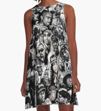 90 gangster rap print A-Line Dress