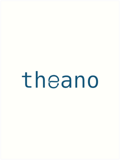 'theano -- Python Deep Learning library' Art Print by Data Love Design