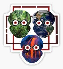 Three Martians Sticker