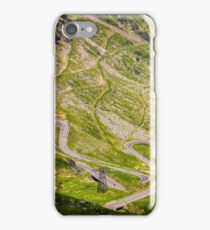 transfagarasan route view from above iPhone Case/Skin