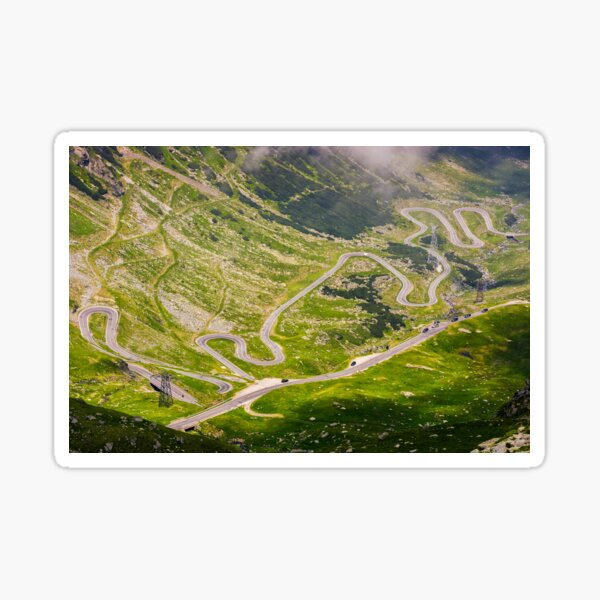 transfagarasan route view from above Sticker