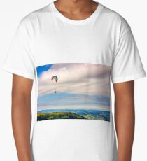 Skydiving  extreme over the mountains Long T-Shirt