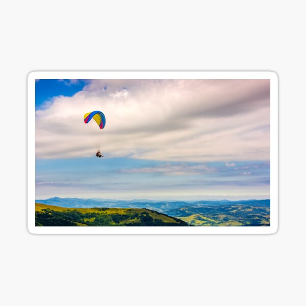 Skydiving  extreme over the mountains Sticker
