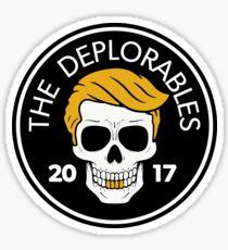 The Deplorables - Trump MAGA Biker Skull 2017 Sticker