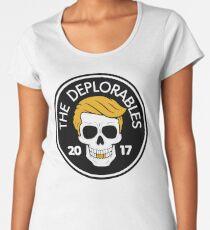 The Deplorables - Trump MAGA Biker Skull 2017 Premium Scoop T-Shirt