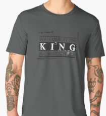 """You Come at the King, You Best Not Miss"" - The Wire (Dark) Men's Premium T-Shirt"