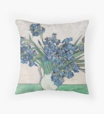 "Vincent van Gogh ""Irises"" Throw Pillow"