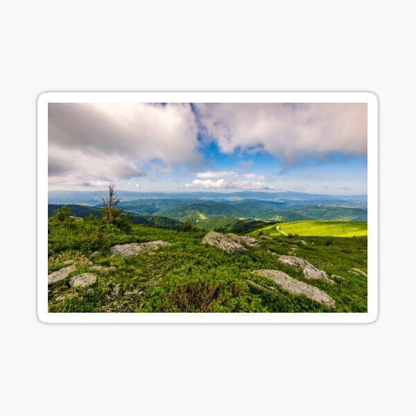 epic landscape in Carpathian high mountain ridge Sticker