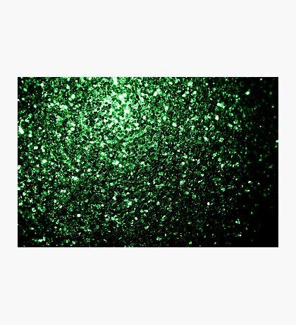 Beautiful Glamour Dark Green glitter sparkles Photographic Print