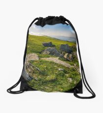 Dandelions among the rocks in Carpathian Alps Drawstring Bag
